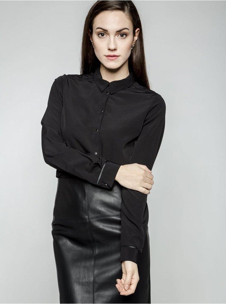 Čierna košeľa VERO MODA Lucypol