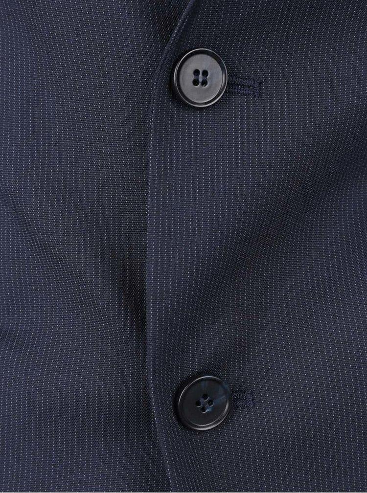 Sacou albastru inchis Selected Homme Donetim cu model discret