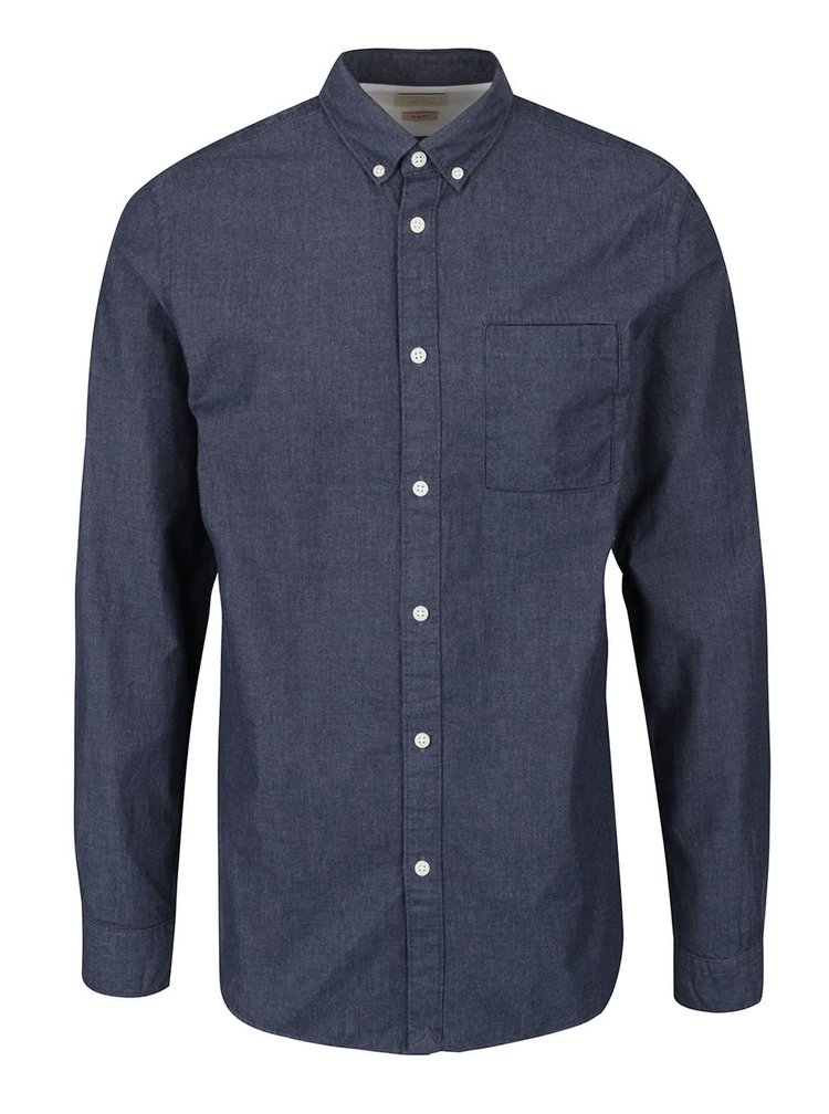 Camasa albastru inchis Selected Homme Waiden slim fit din bumbac