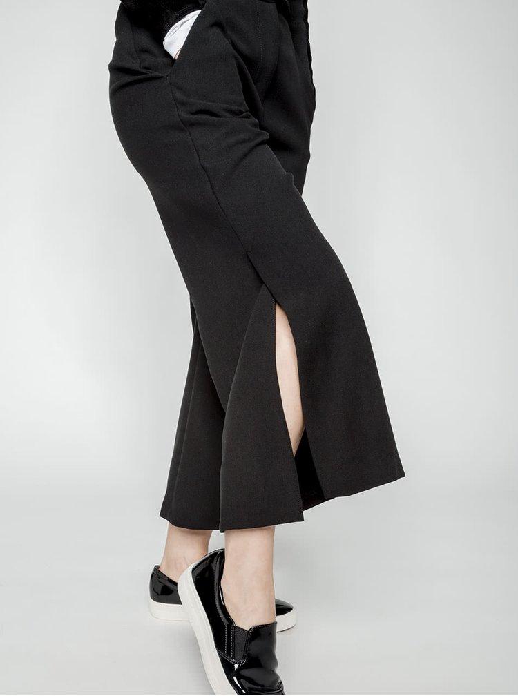 Čierne culottes s vreckami Closet