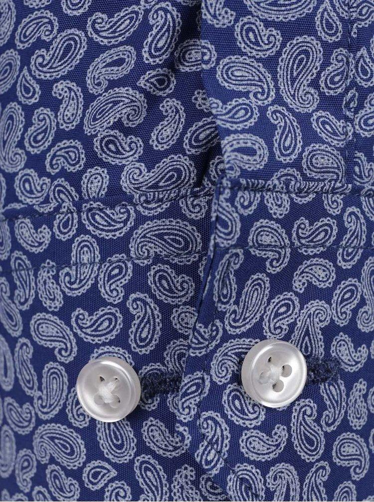 Modrá vzorovaná košile Selected Homme Romeo