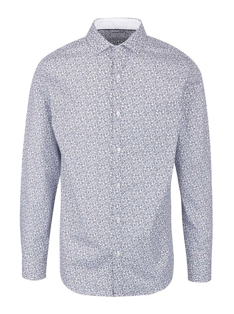 Modro-bílá vzorovaná košile Selected Homme Romeo