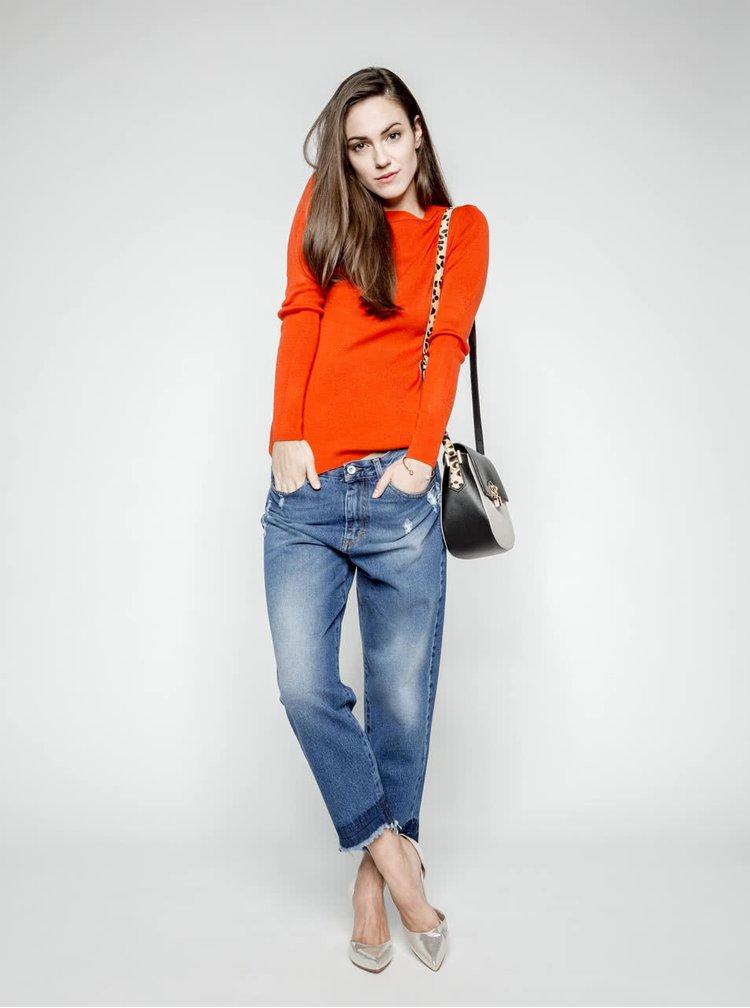 Oranžový sveter Dorothy Perkins