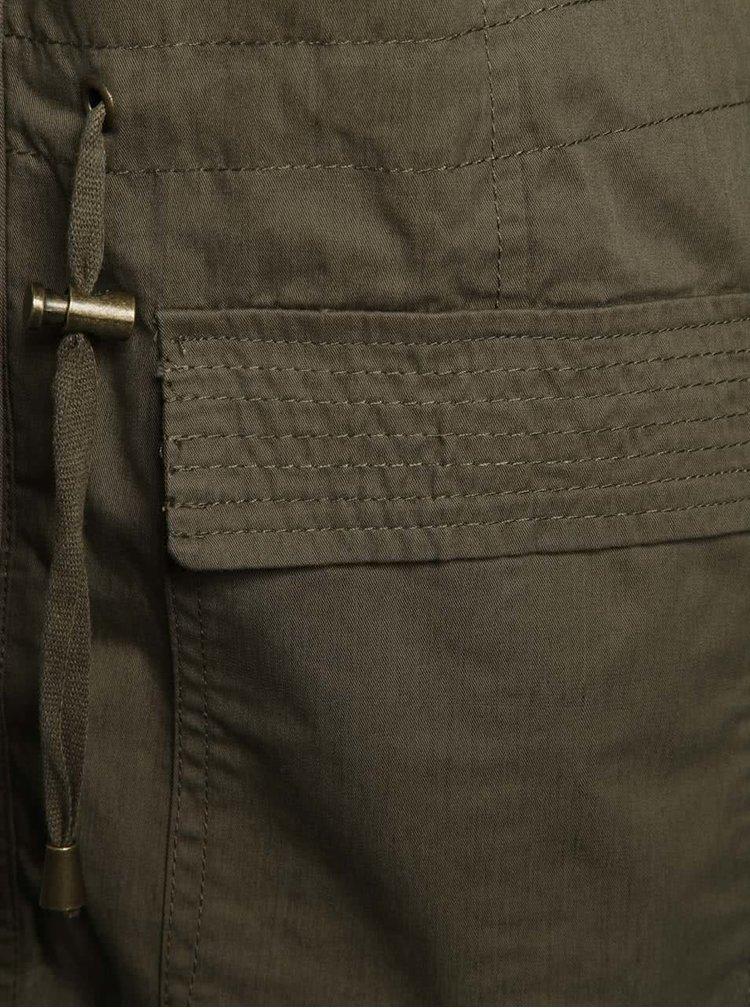 Jacheta kaki Dorothy Perkins cu aplicatii