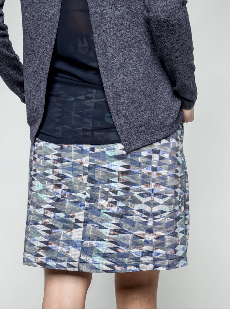 Šedo-modrá vzorovaná sukně Lavand