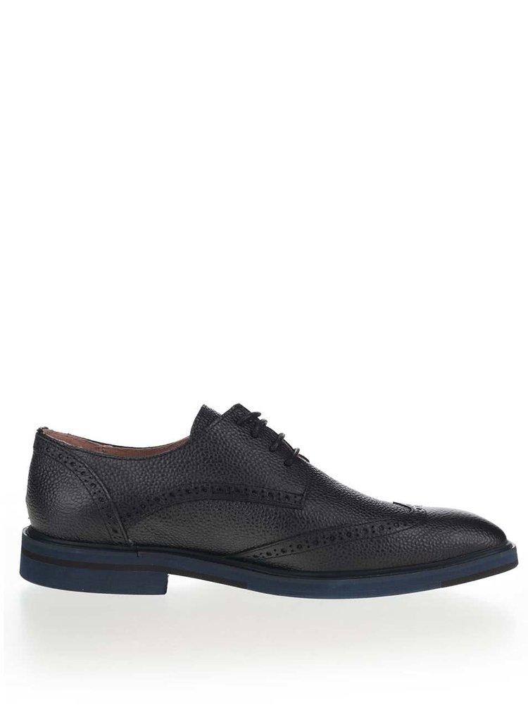 Pantofi Oxford negri Selected Homme Wight din piele