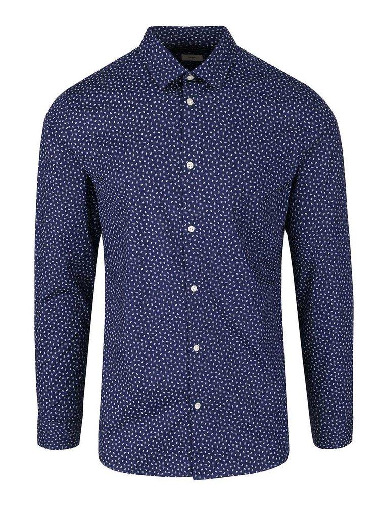Tmavě modrá vzorovaná košile Jack & Jones Zak