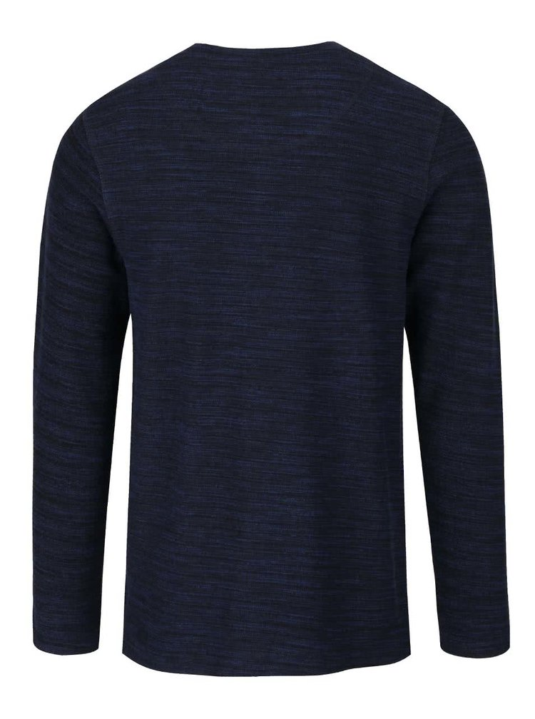 Bluză albastră Jack & Jones Sebastian din bumbac