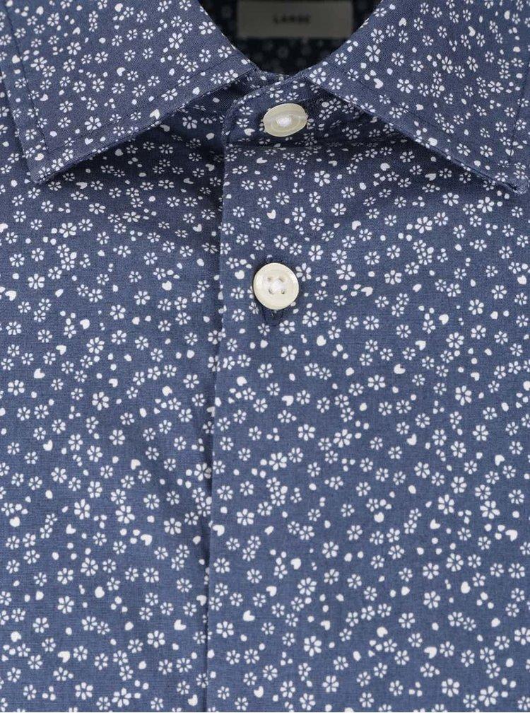 Modrá košile s motivem malých květin Jack & Jones Zak