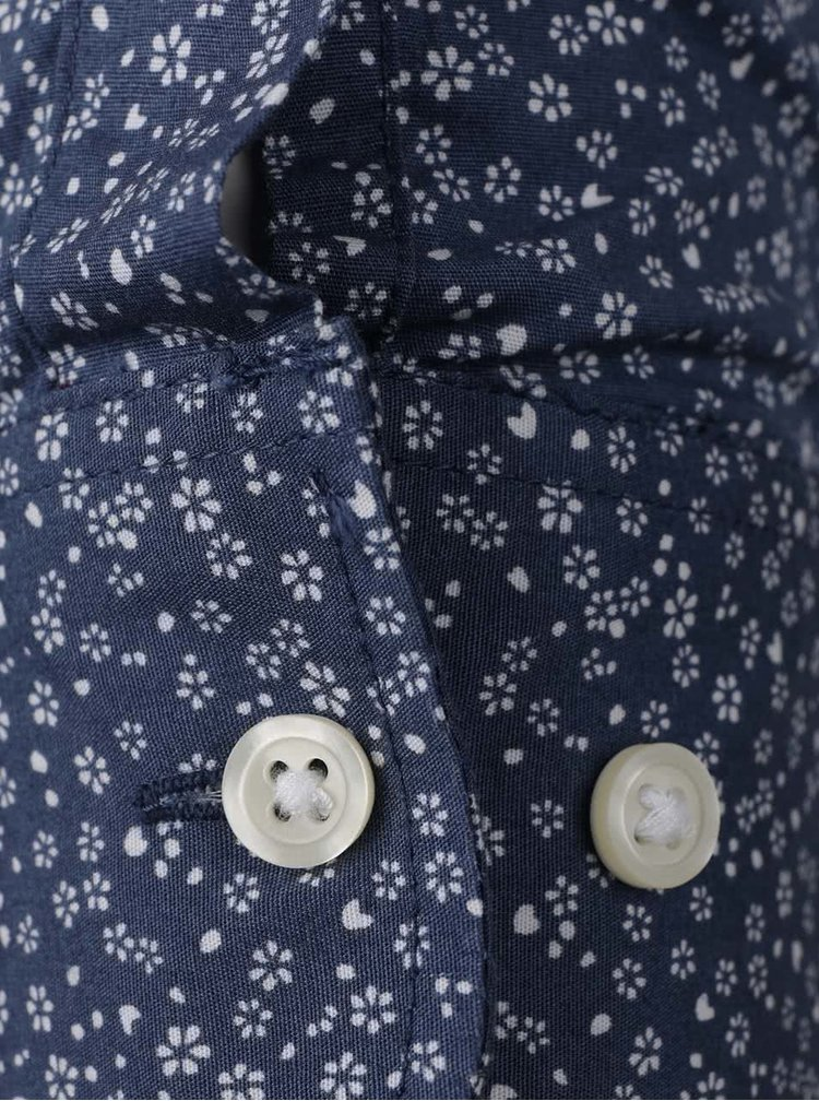 Cămașă albastră Jack & Jones Zak cu model floral