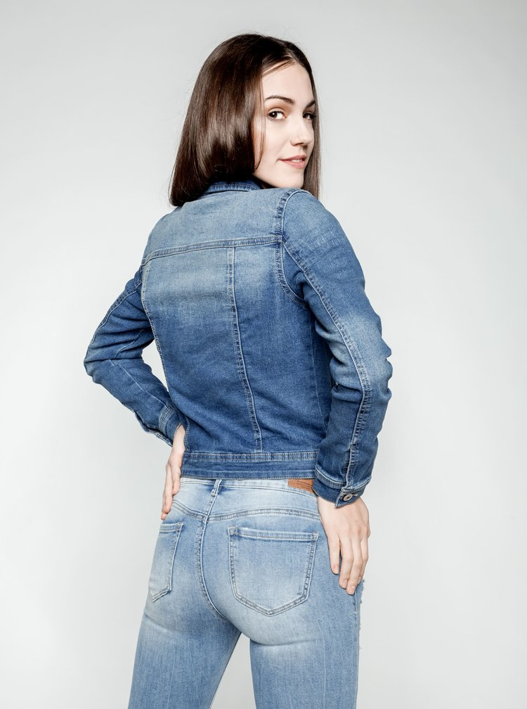 Jacheta albastra crop ONLY New din denim