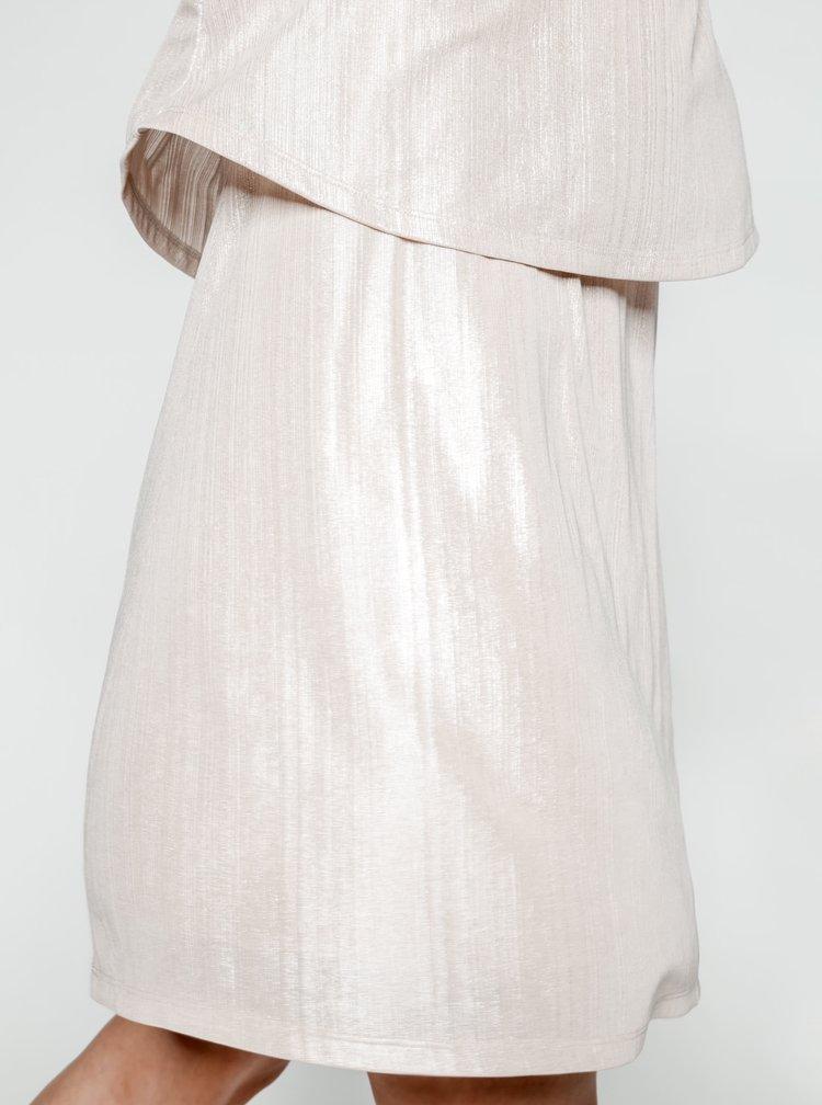 Krémové třpytivé šaty VILA Pol