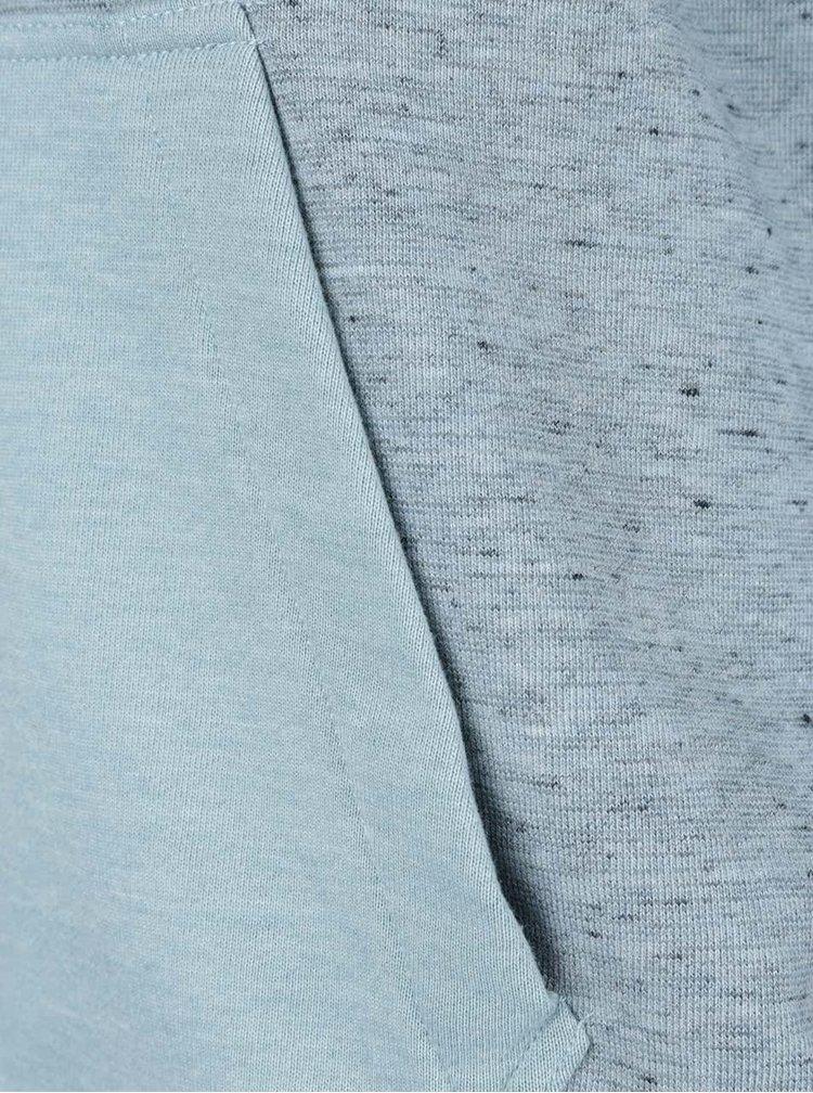 Světle modrá mikina se zipem a kapucí Jack & Jones Japan