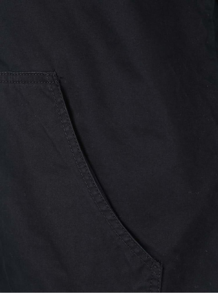 Černá bunda s kapucí Jack & Jones High
