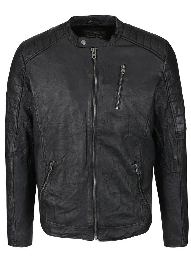 Jacheta neagra Jack & Jones Richard din piele