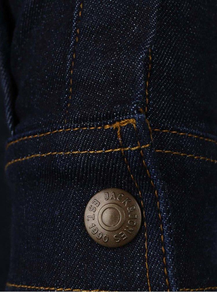 Cămașă albastră Jack & Jones Noah din denim