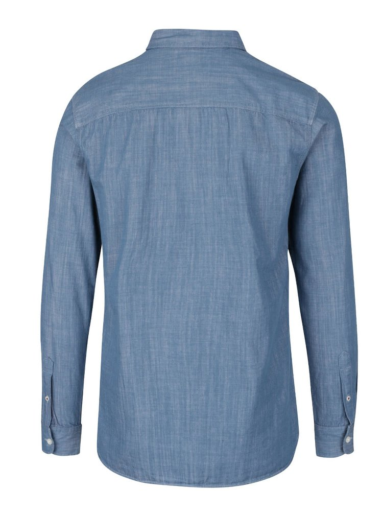 Camasa albastra Jack & Jones Spot din denim