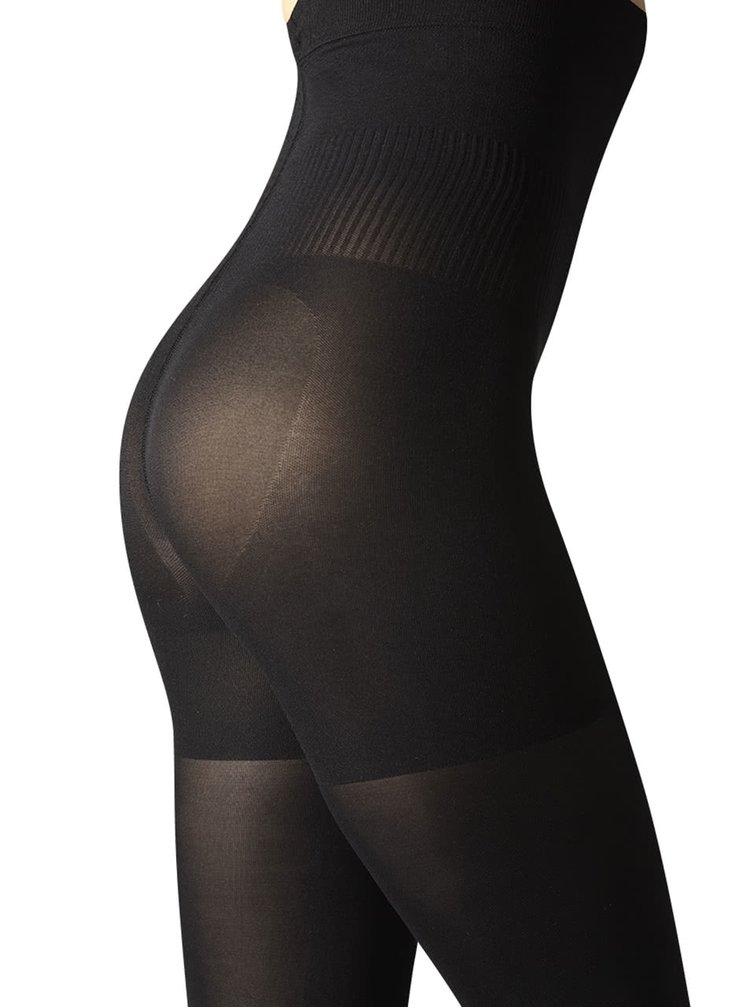 Černé neprůhledné stahovací punčochové kalhoty Gipsy Hourglass 80 DEN
