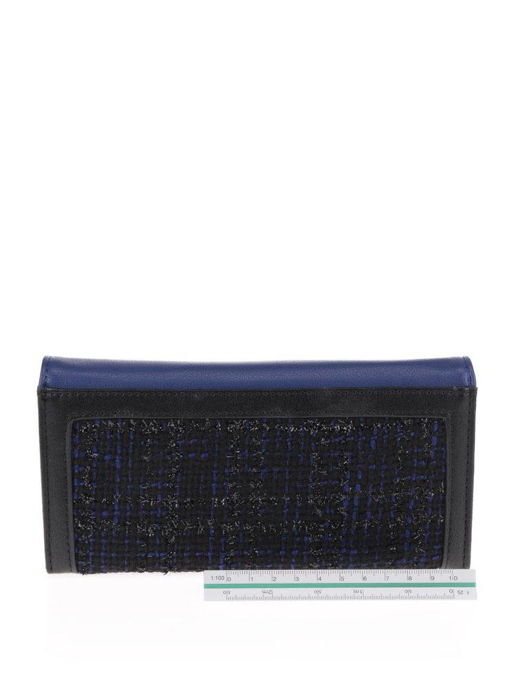 Černo-modrá peněženka LYDC