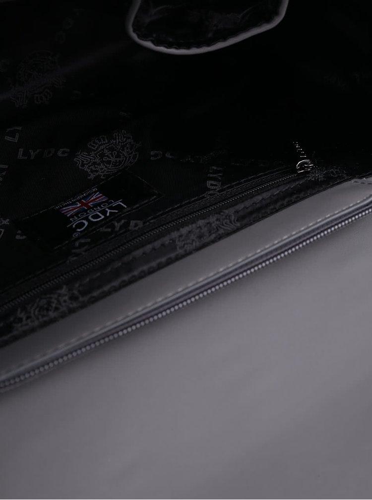 Šedá vzorovaná crossbody kabelka/psaníčko LYDC