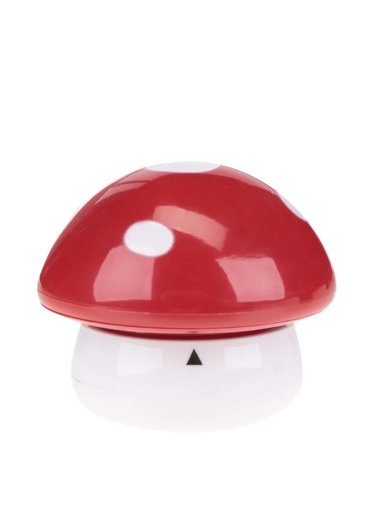 Cronometru de bucatarie alb&rosu in forma de ciuperca Kikkerland Mushroom