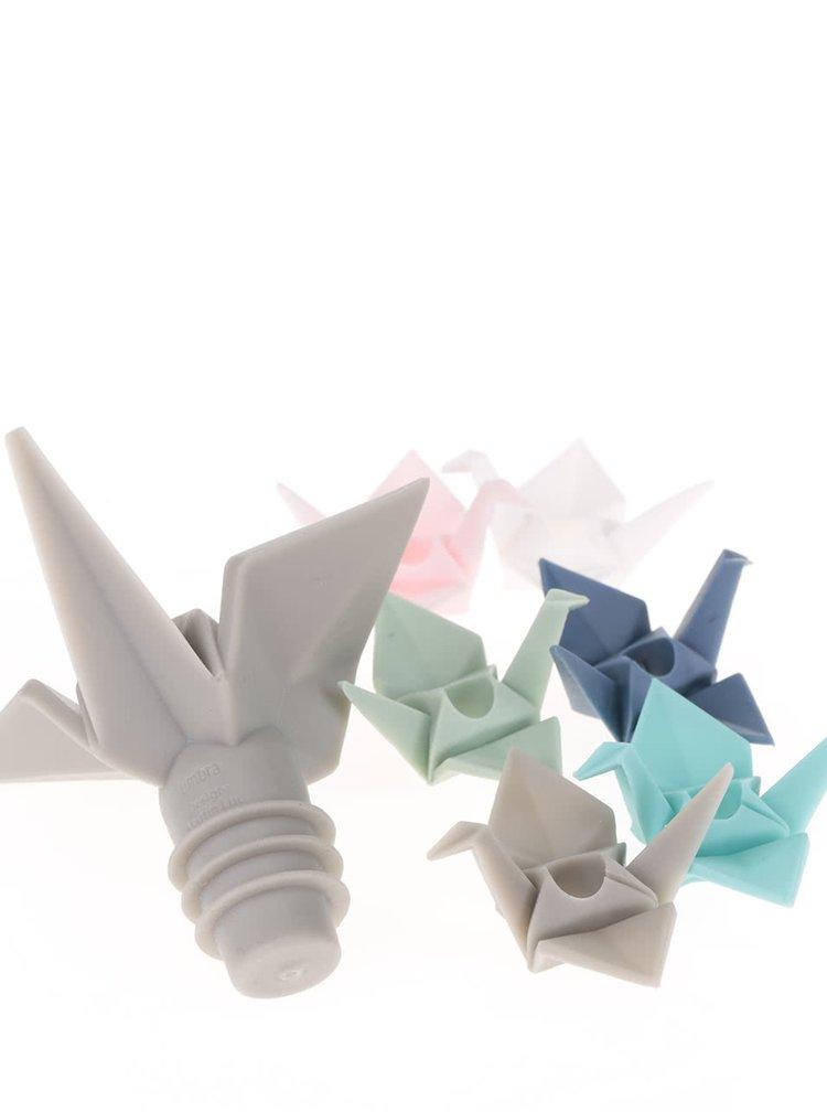 Uzávěr na láhev a sada šesti barevných rozlišovačů Umbra Origami