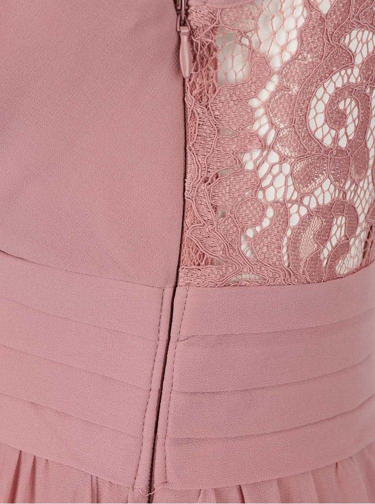 Rochie roz Little Mistress cu detalii din dantela