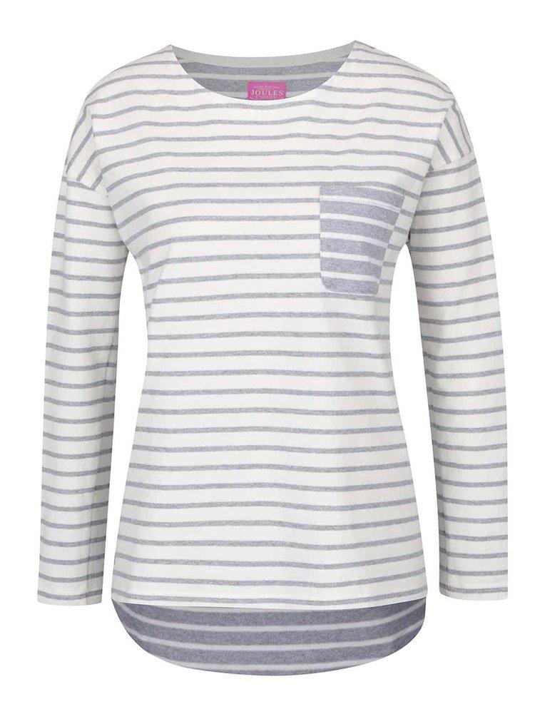 Krémové dámské pruhované tričko s dlouhým rukávem Tom Joule Bay