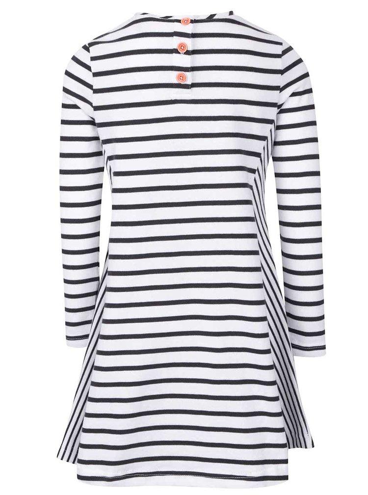 Rochie negru cu alb in dungi Tom Joule Loralie pentru fetite