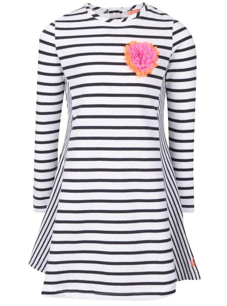 Rochie negru cu alb în dungi Tom Joule Loralie pentru fetițe