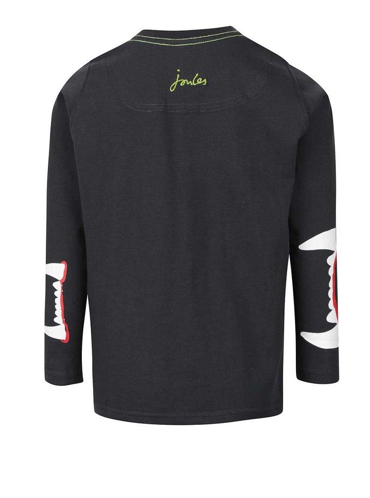 Černé klučičí triko s dlouhým rukávem lva Tom Joule Jack