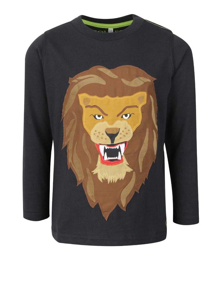 Bluza neagra cu aplicatie leu Tom Joule Jack pentru baieti