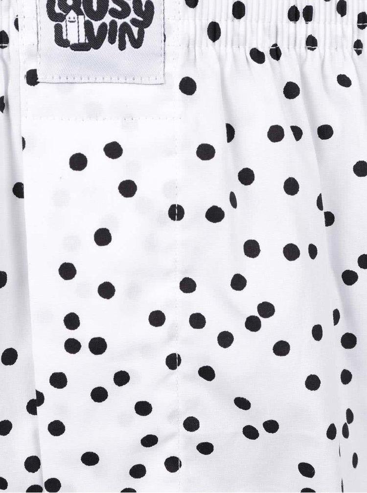 Sada dvou puntíkovaných trenýrek v bílé a modré barvě Lousy Livin Dots