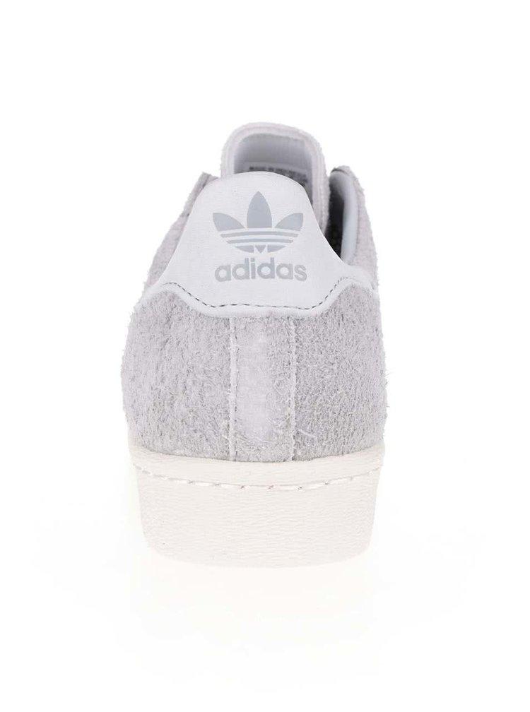 Světle šedé pánské semišové tenisky adidas Originals Superstar 80s