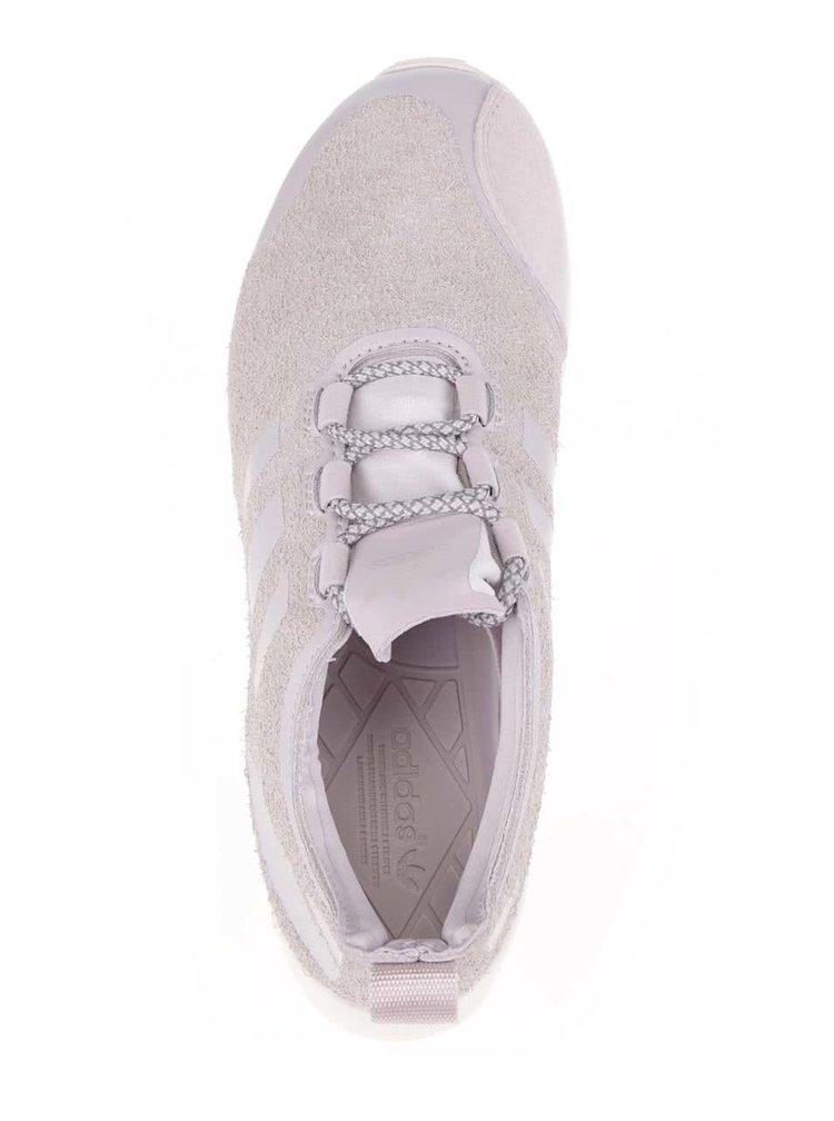 Světle růžové dámské semišové tenisky adidas Originals Flux