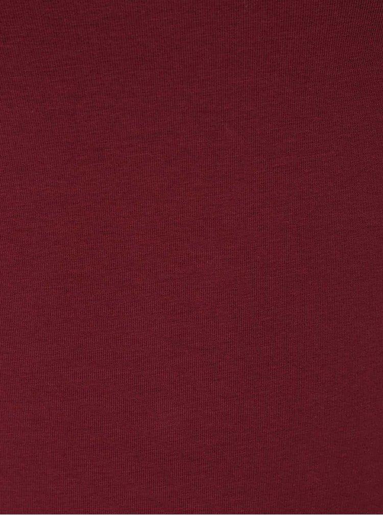 Top lung roșu Bordeaux ONLY Live