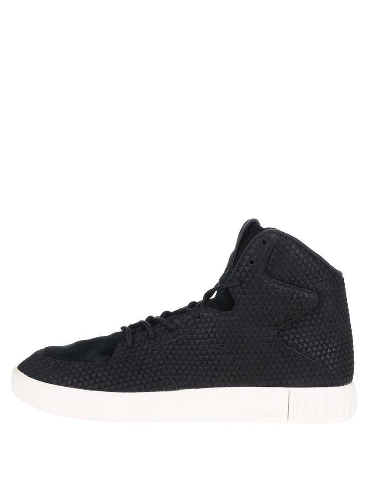 Černé pánské semišové kotníkové tenisky adidas Originals Tubular Invader