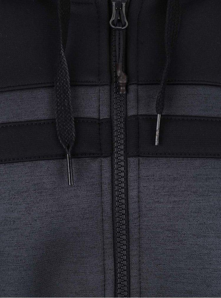 Tmavě šedá pánská mikina s kapucí adidas Originals