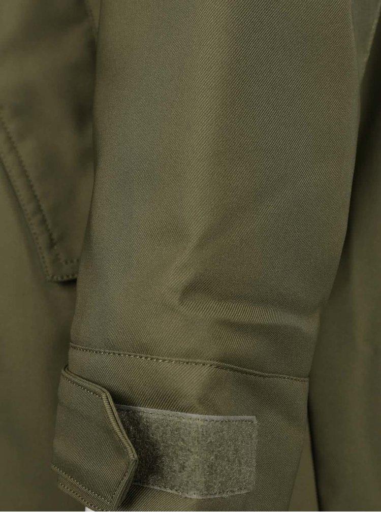Khaki pánská parka s kapucí adidas Originals