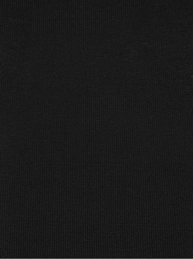 Pulover negru cu model și nasturi decorativi pe spate ONLY Pernille