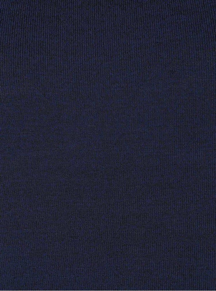 Tmavě modrý svetrový volnější top se vzorovanými zády ONLY Pernille