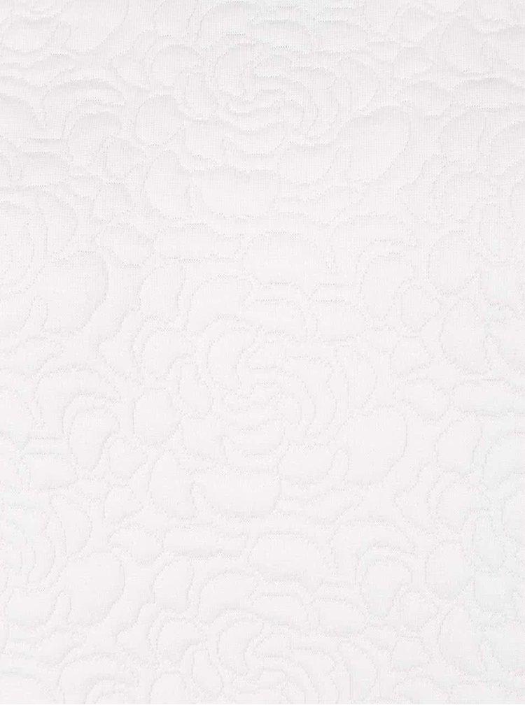 Bluza lunga alba Kvinna  cu model floral in relief
