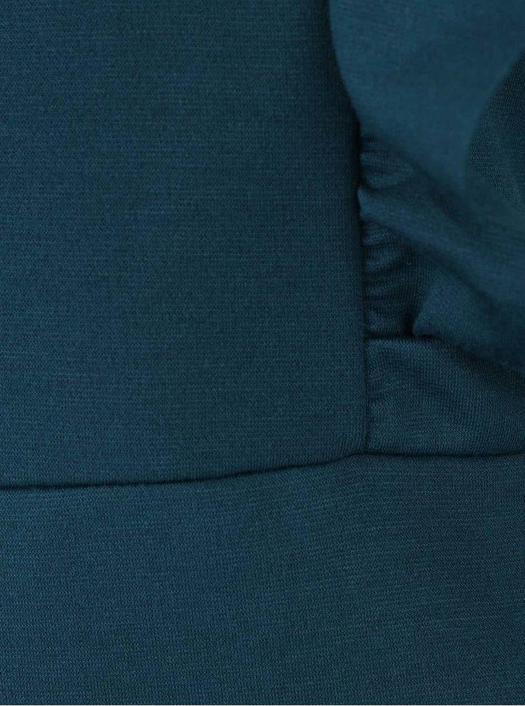Rochie albastru petrol cu volane ONLY Boel