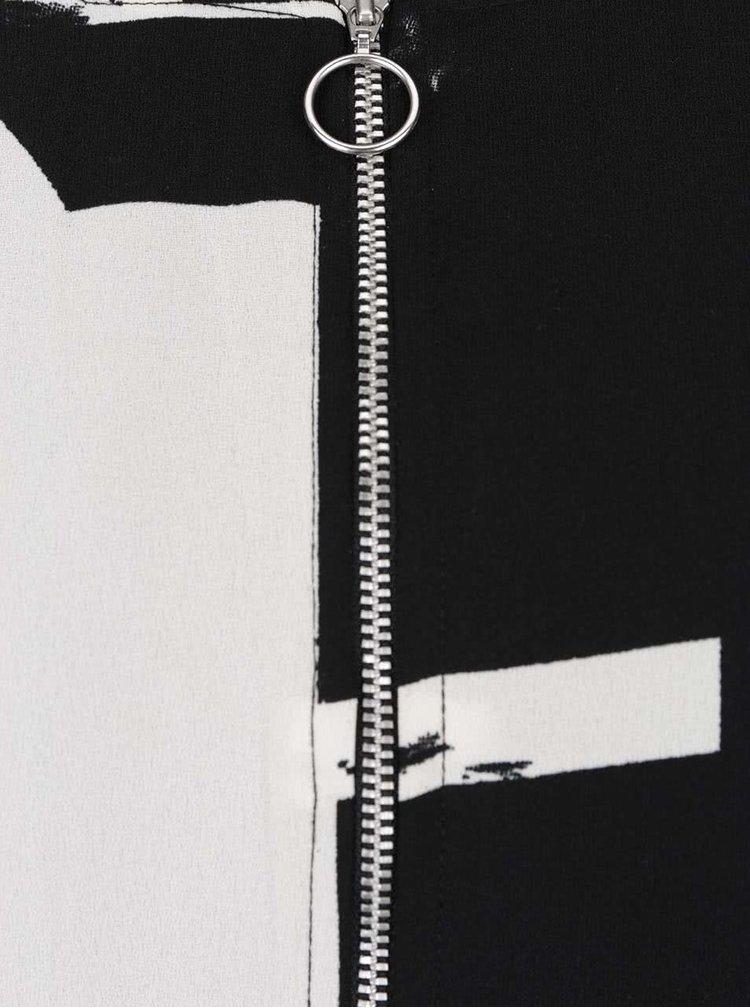 Krémovo-černý lehký vzorovaný bomber ONLY Max
