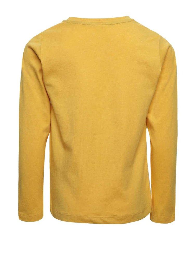 Žluté klučičí tričko s potiskem a dlouhým rukávem name it Dex