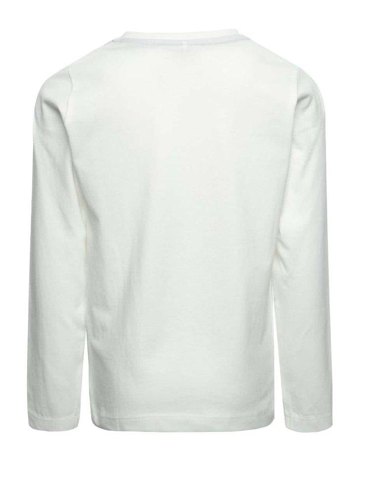 Krémové klučičí tričko s potiskem a dlouhým rukávem name it Dex