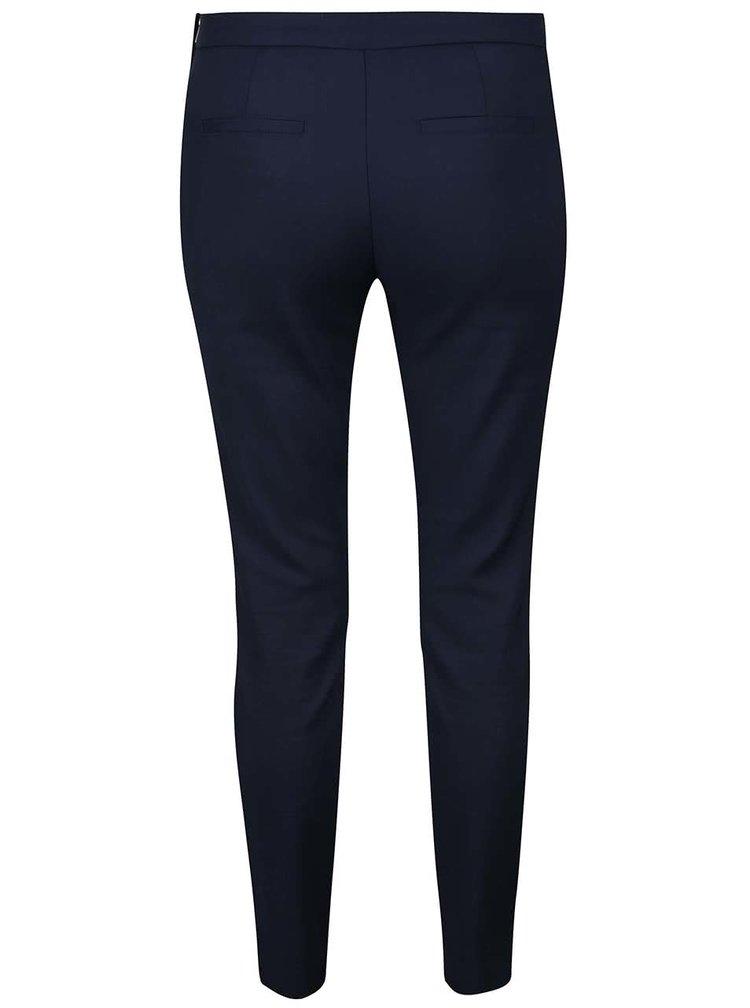 Tmavě modré osminkové kalhoty VERO MODA Ida
