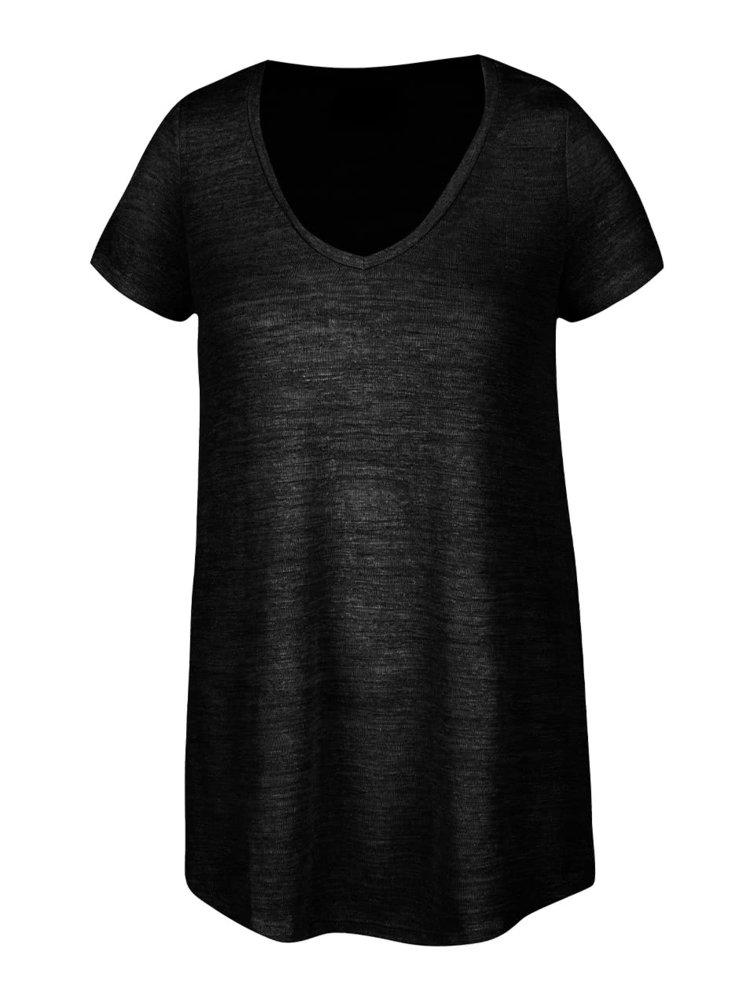 Černé průsvitné tričko VERO MODA Cody