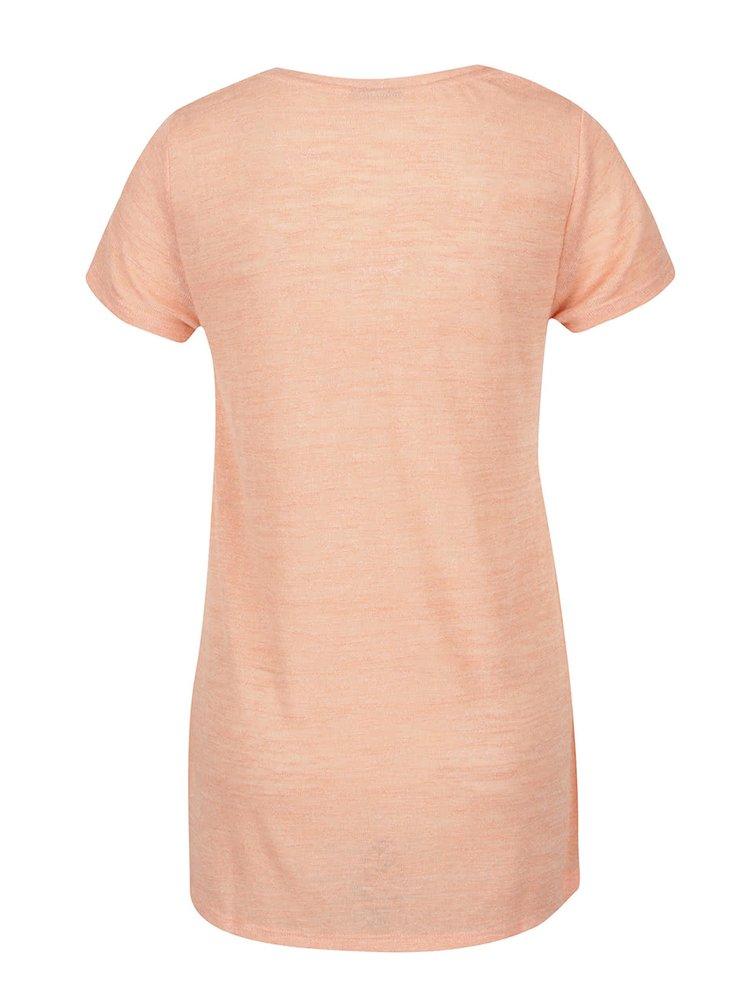 Korálové průsvitné tričko VERO MODA Cody