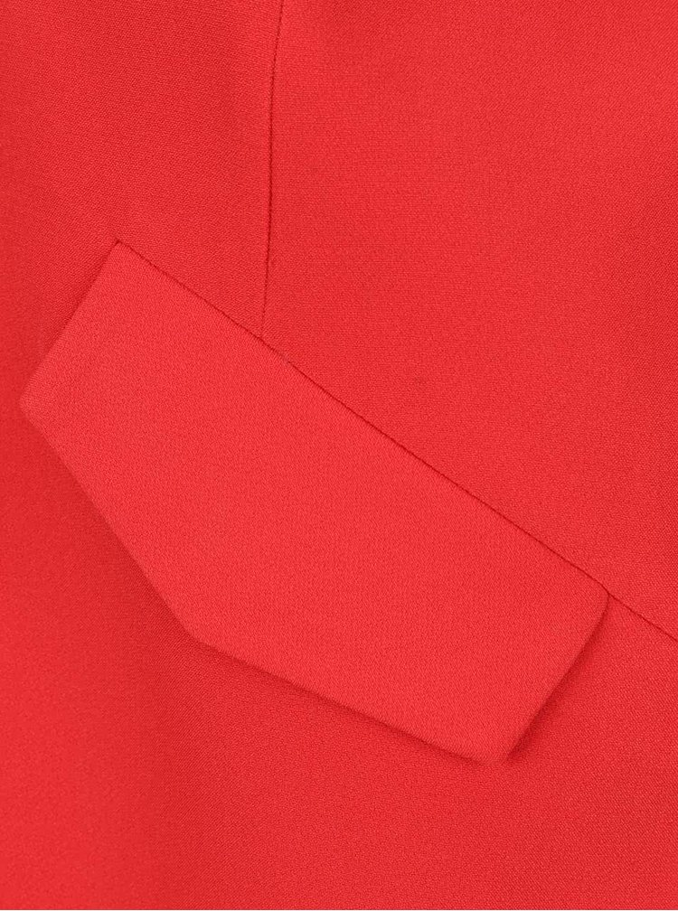Červený lehký kabát VERO MODA Solo